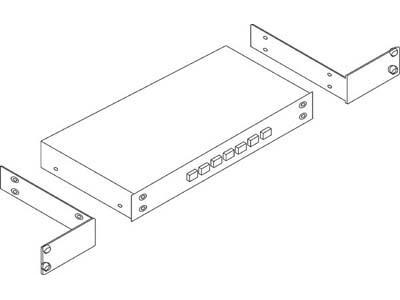 RK-81X 19-Inch Rack Adapter for Selected Desktop Models by Kramer