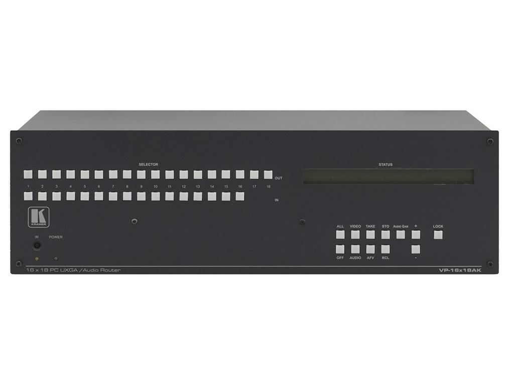 VP-16X18AK 16x18 /16x16 Computer Graphics Video VGA and Balanced/Unbalanced Stereo Audio Matrix Switcher by Kramer
