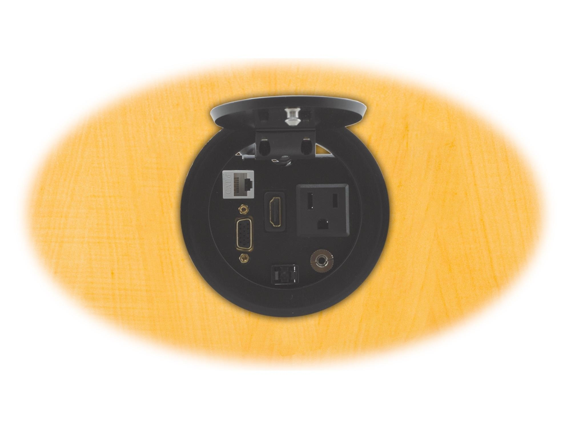 RTBUS-11(B) Round Table Mount Multi-Connection Solution/Black by Kramer