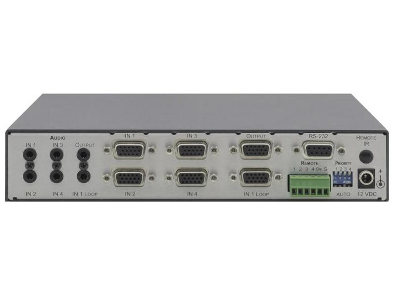 VP-411DS 4x1 VGA Video and Stereo Audio Standby Switcher by Kramer