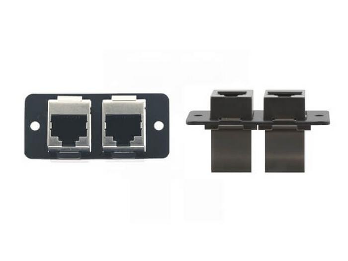 W4545(G) Dual RJ-45 Ethernet Wall Plate Insert/Gray by Kramer