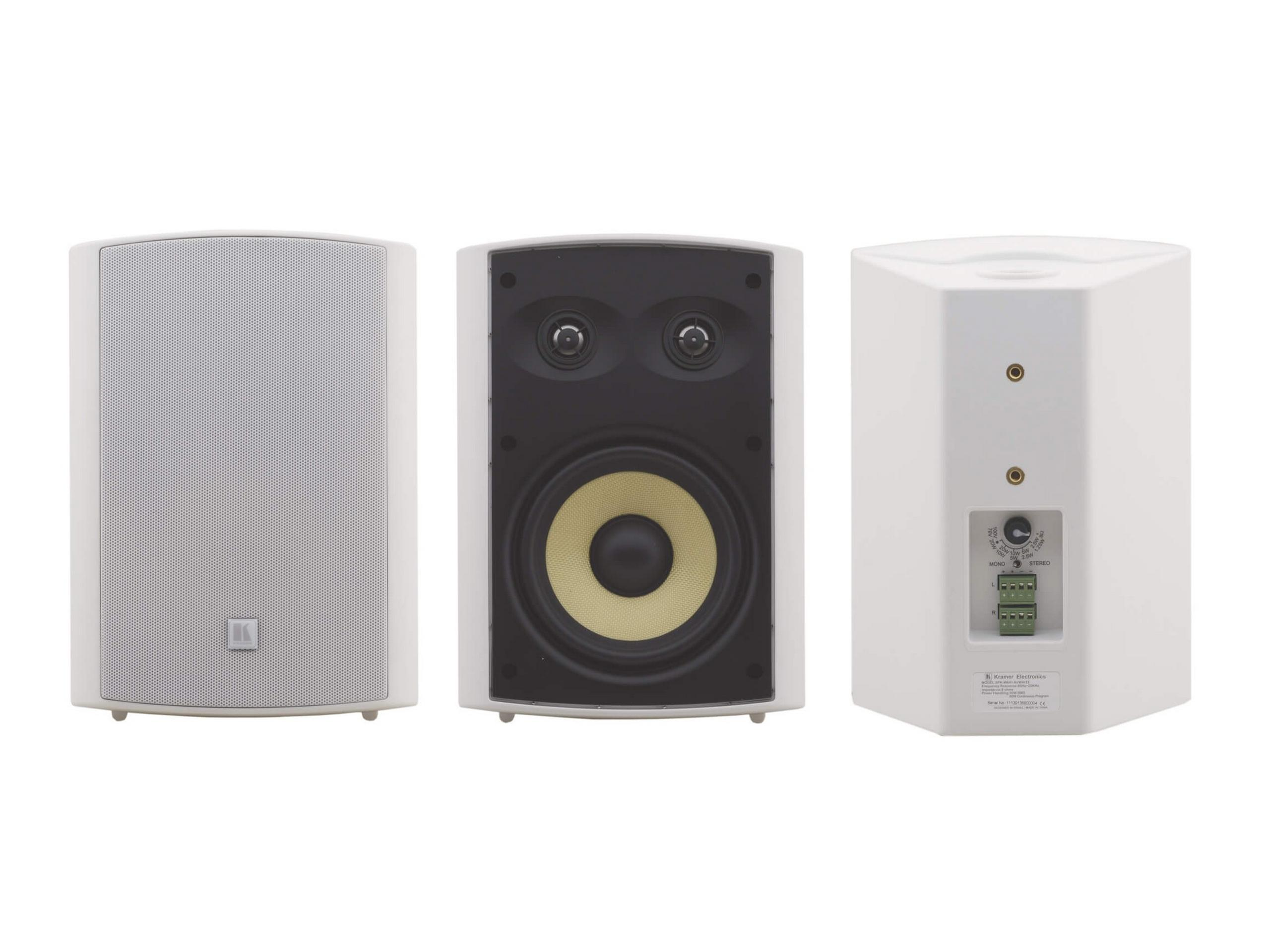 YARDEN 6-OD(W) 6.5 inch Wall Speaker/made with Kevlar Woofer 2x1 Titanium Tweeters/White by Kramer