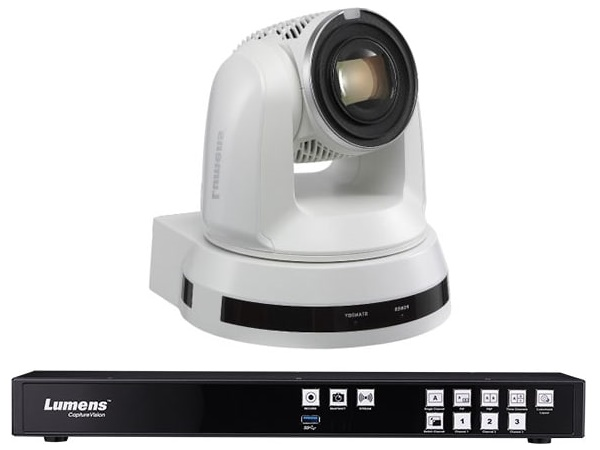 LC200Bundel61PW CaptureVision System with 2x (VC-A61PW) 4K UHD Pan/Tilt/Zoom (PTZ) IP Camera (White) by Lumens