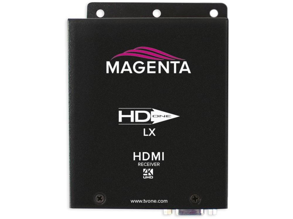 2211096-02 HD-One LX HDMI 4K UHD HDBaseT Extender (Receiver) with Audio by Magenta Research