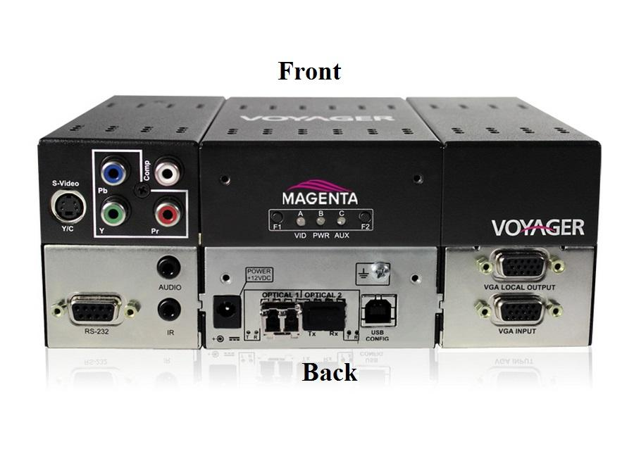 2310018-01 2-p Extender (Transmitter) with VGA/S-Video/YUV/Audio/RS-232/Two MMF SFP by Magenta Research