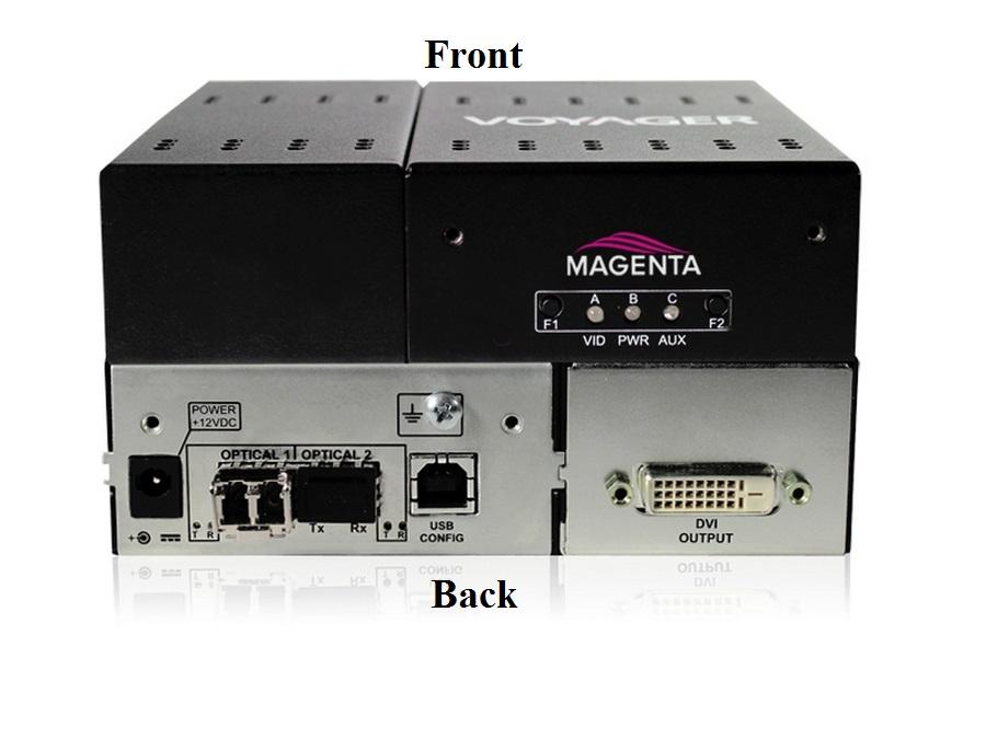 2320003-01 2-Port Extender (Receiver) with DVI (HDCP)/One MMF SFP Included by Magenta Research