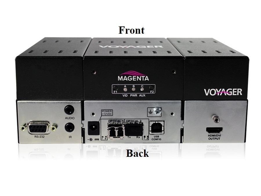 2320007-01 2-Port Extwnder (Receiver) with HDMI (HDCP)/Audio/RS-232/One MMF SFP by Magenta Research