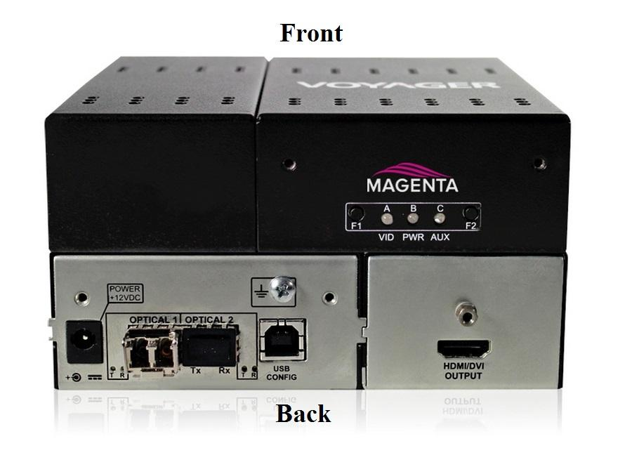 2320012-01 4-P Scaling Extender (Receiver) with HDMI (HDCP)/Two MMF SFP Included by Magenta Research