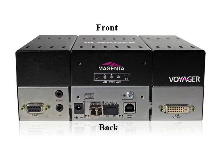2320019-01 4-Port Extender (Receiver) with DVI (HDCP)/Audio/RS-232/Two MMF SFP by Magenta Research