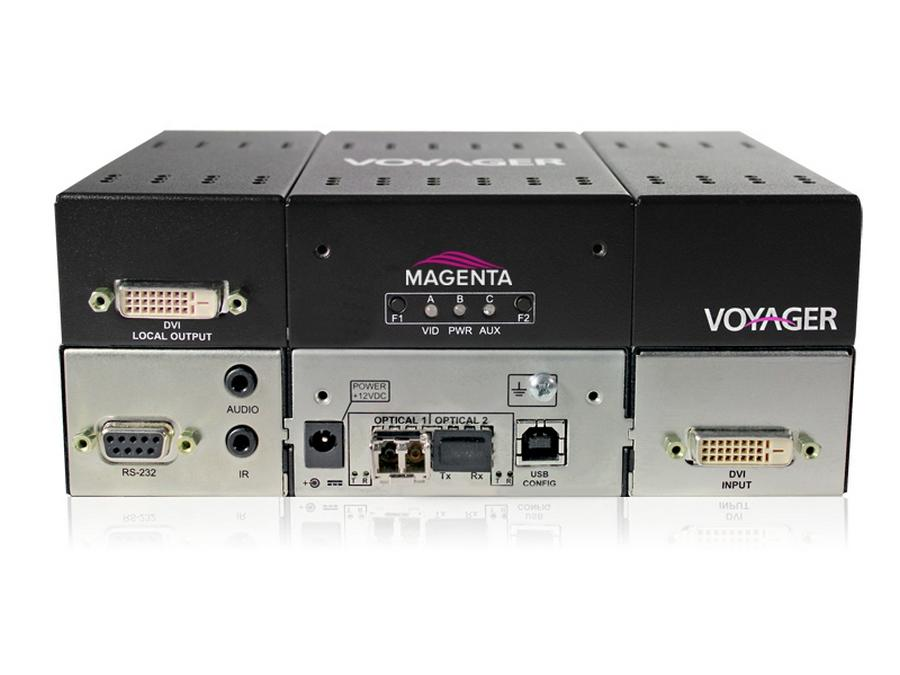 2310017-01 4-p Extender (Transmitter) with  DVI (HDCP)/Audio/RS-232/Two MMF SFP Incl by Magenta Research