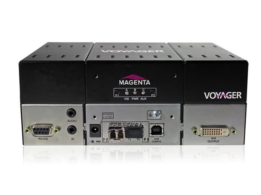 2320009-01 2-Port Extender (Receiver) with DVI (HDCP)/Audio/RS-232/One MMF SFP by Magenta Research