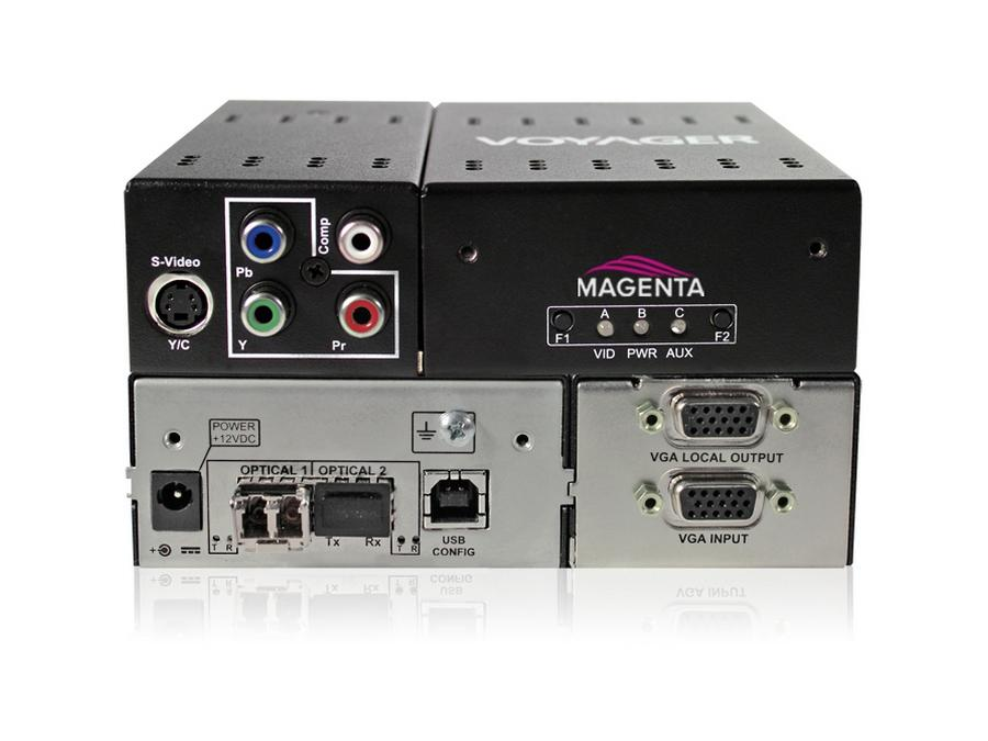 2310003-01 2-p Extender (Transmitter) with VGA/S-Video/YUV/C/ One MMF SFP Included by Magenta Research