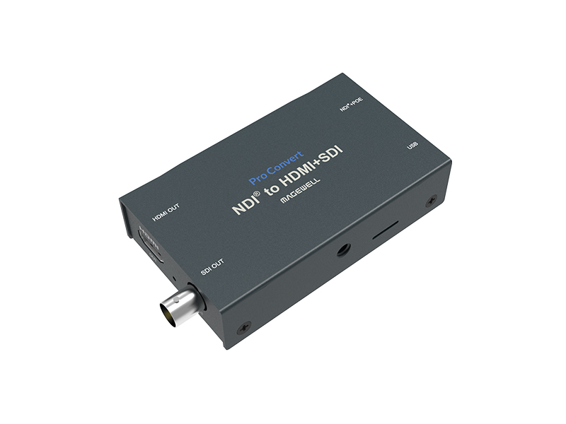 64070 One-Channel HD NDI Stream to HD HDMI and/or 3G SDI Signal Converter by Magewell