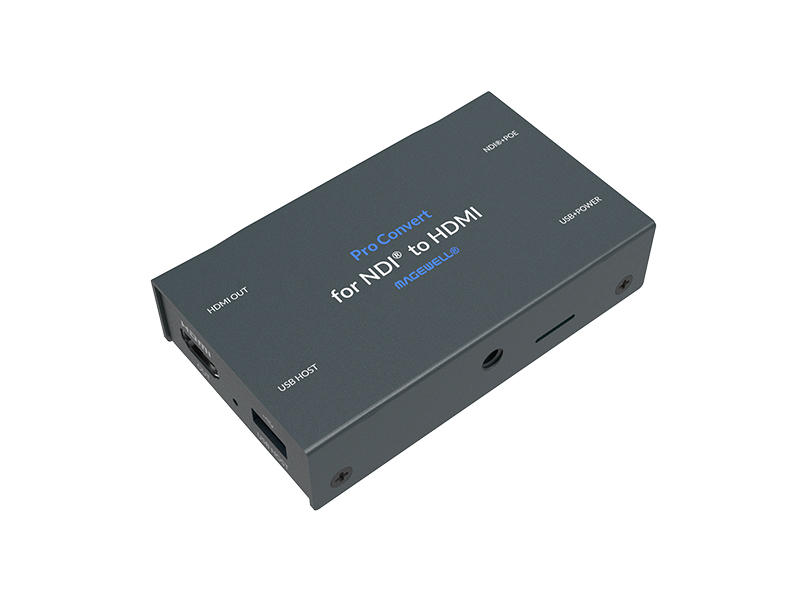 64100 Full Bandwidth 4K60 NDI Stream into HDMI Signal Converter by Magewell