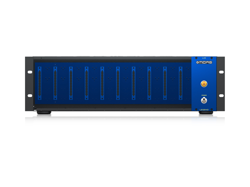 L10 500 Series Rackmount Chassis for 10 Modules with Advanced Audio Routing by Midas