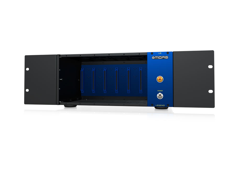 L6 500 Series Portable Chassis for 6 Modules with Advanced Audio Routing and Rackmount Kit by Midas