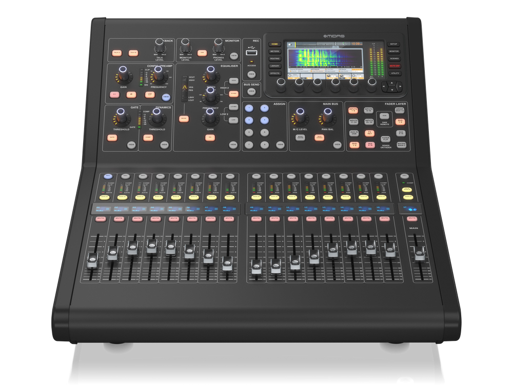 M32R LIVE 40-Ch Digital Console for Live/Studio with 16 Midas PRO Microphone Preamplifiers and 25 Mix Buses by Midas