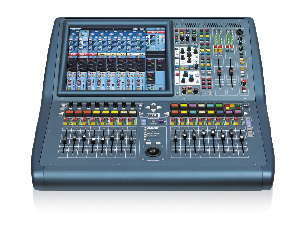 PRO1-IP 48-Ch Live Digital Console with 24 Midas Microphone Preamps/27 Mix Buses/96 kHz Sample Rate by Midas