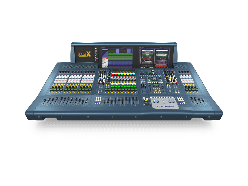 PRO X-CC-TP 168-Ch Live Digital Console Control Centre with 99 Mix Buses/96 kHz Sample Rate/ Road Case by Midas