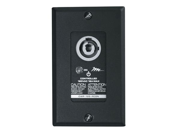 CWP-120-PCON Controlled Wall Plate PowerCON (16A rated) by Middle Atlantic