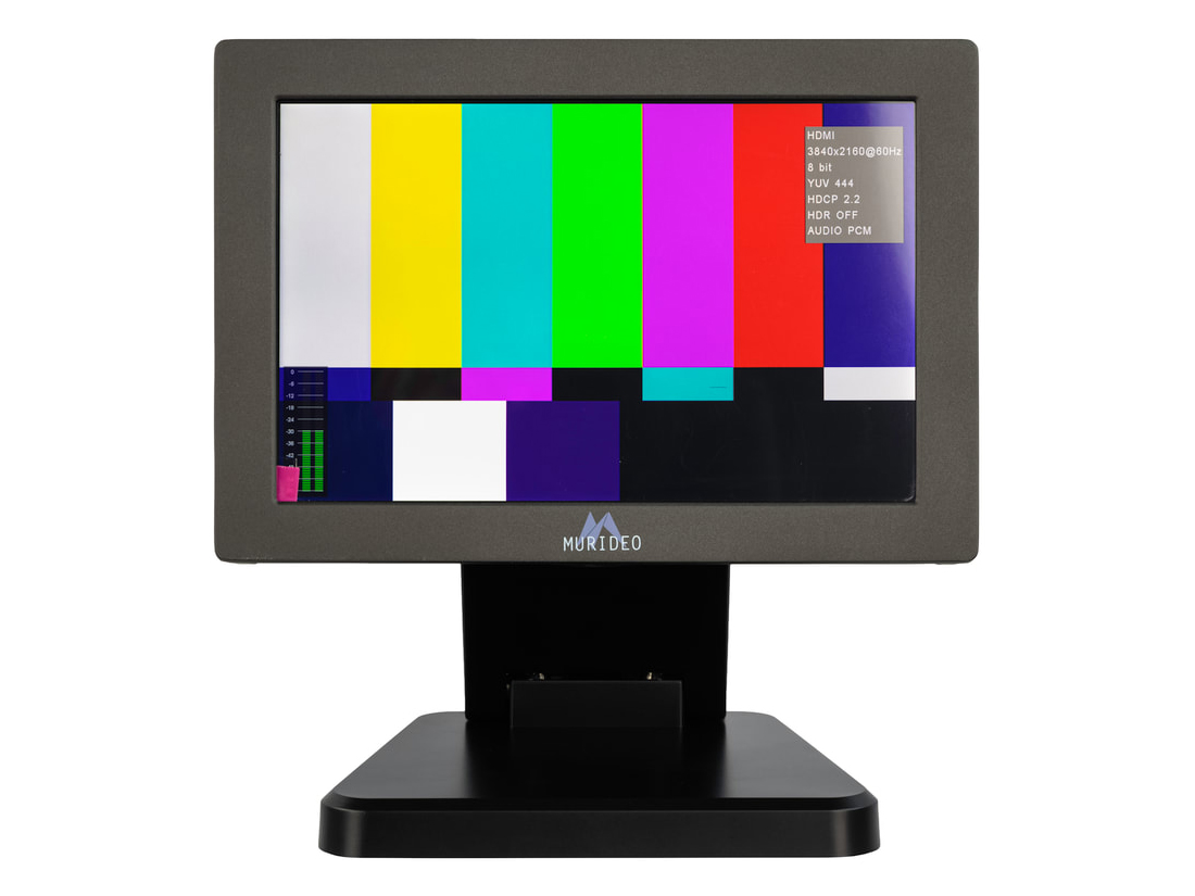 MUR-MON-SING 7 inch 18Gbps 4K HDR HDMI Input Field Test Monitor with Analyzer Functions by Murideo