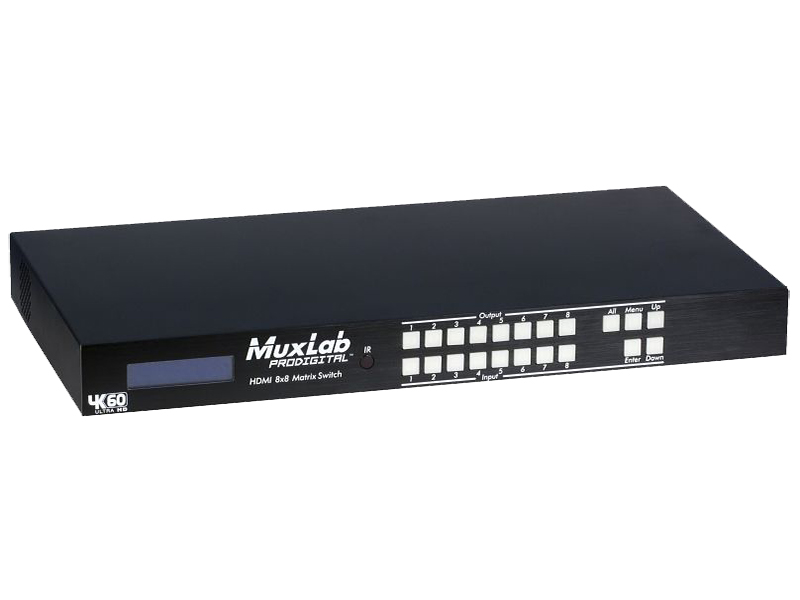 500443-US 4K/60 HDMI 8x8 Matrix Switch/US by Muxlab