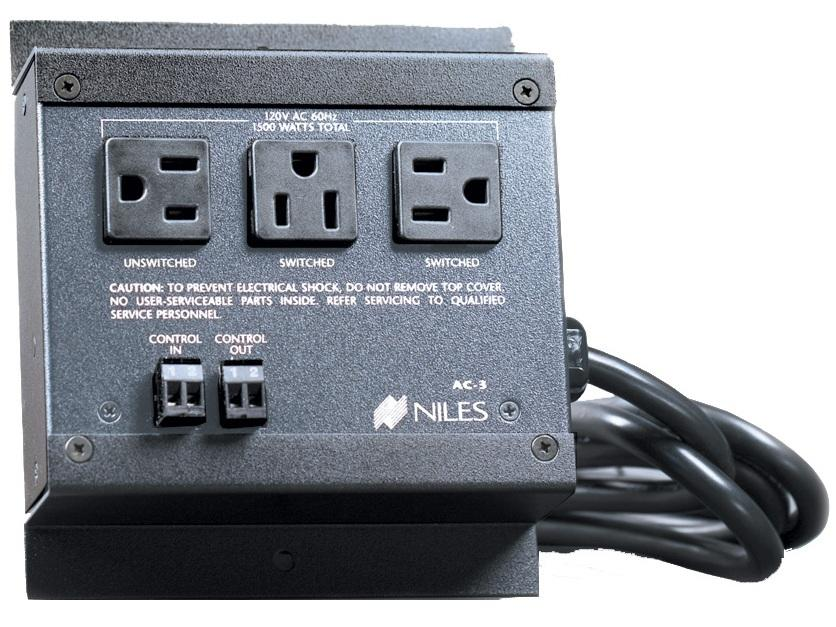 AC-3 Voltage-Triggered AC Power Strip (3 AC Outlets) by Niles