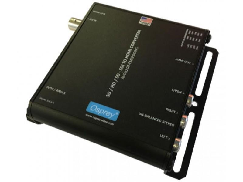 97-21211 3G SDI to HDMI SHCA-1 Converter with Audio De-Embedding by Osprey
