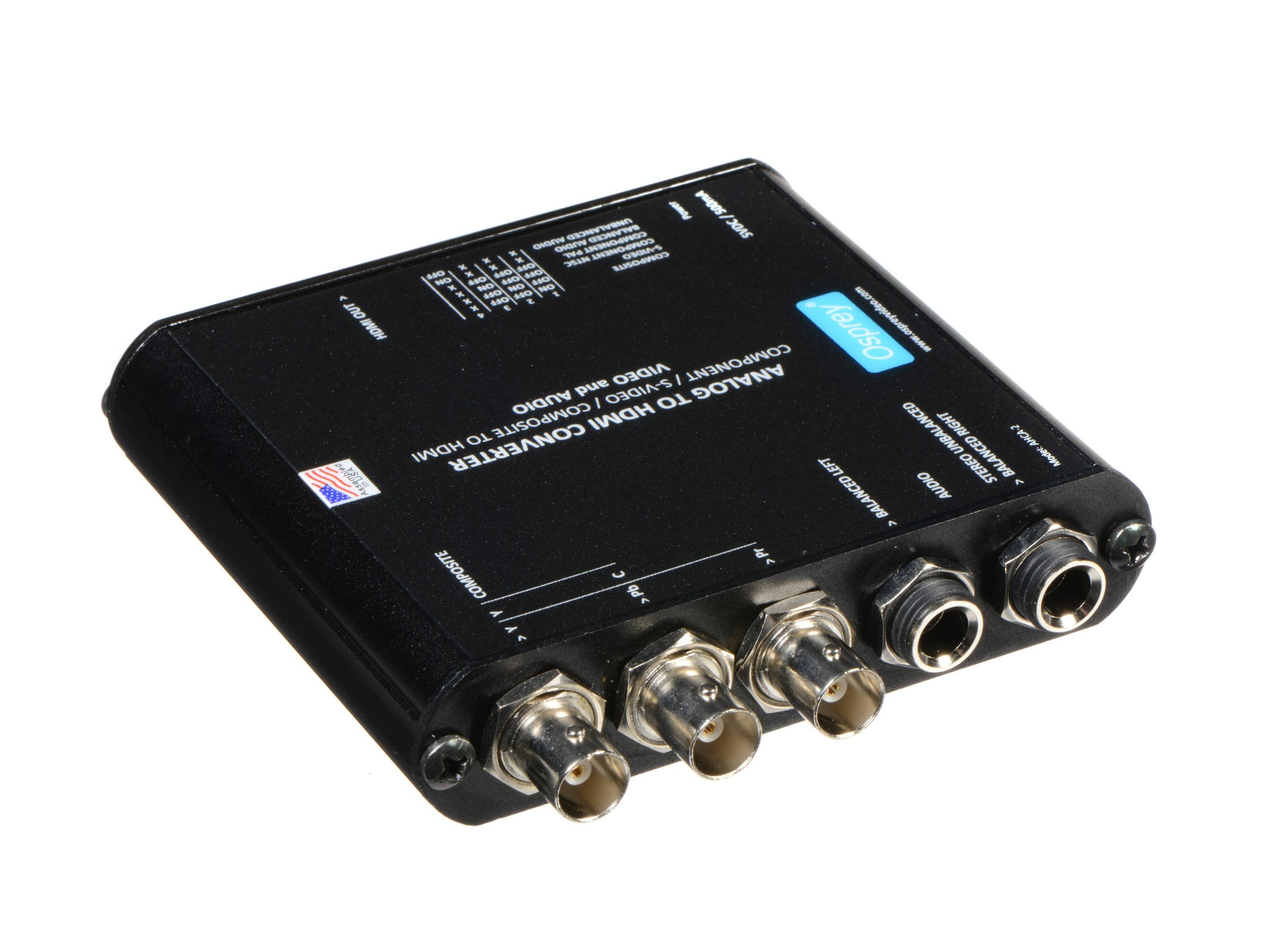 97-23211 Component/S-Video/Composite to HDMI AHCA-2 Converter with Audio Embedding by Osprey