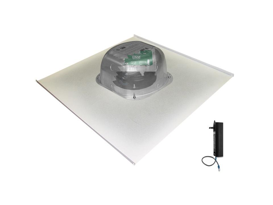 2X2AMP-CAT61 6 inch Integratable Amplified In Ceiling Speakers on a 2x2 Metal Tile (One Combination) by OWI