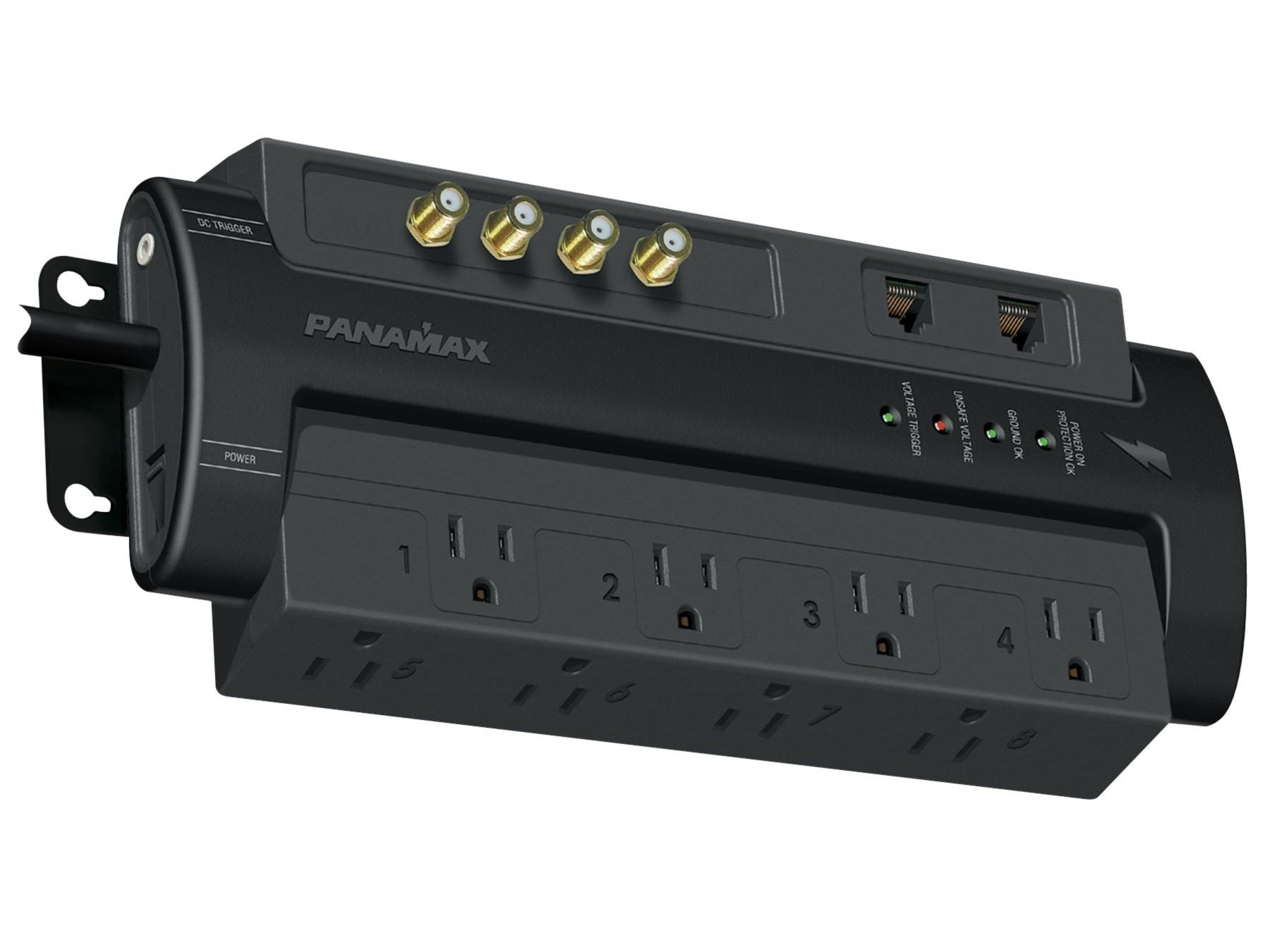 M8-AV-PRO Max 8 AV Pro - 8 AC Coax and Telephone Line Surge Protector by Panamax