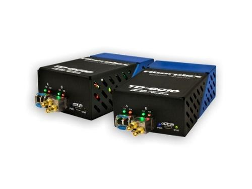 TKIT-SDT2-S TD-6010 (Pair) Composite Video to SM Optical Conversion/Dual Channel/1310nm up to 20km by Patton