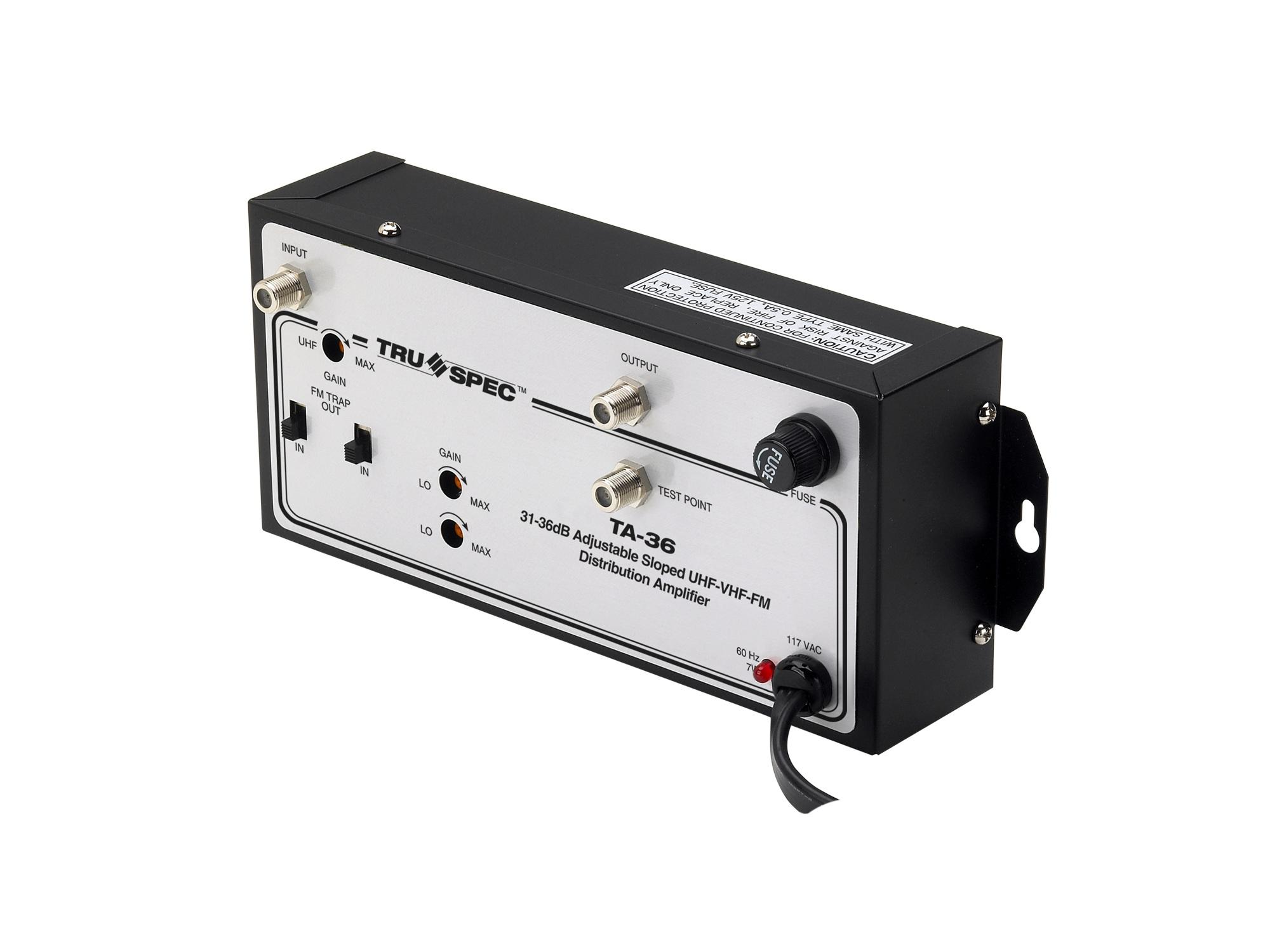 TA-36 36dB Gain UHF/VHF/FM Distribution Amplifier by Pico Digital