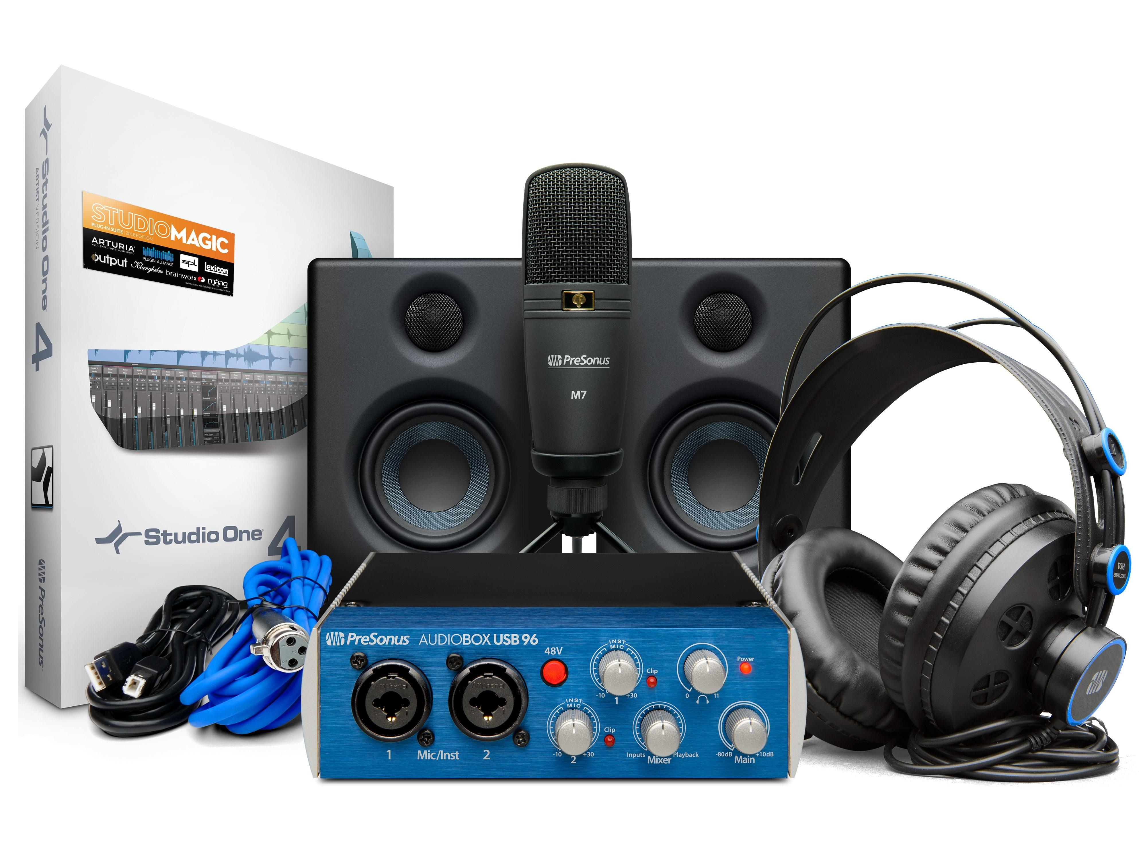 AudioBox 96 Studio Ultimate AudioBox USB 96/HD7 Headphones/M7 Mic/Studio One Artist/Eris E3.5 by PreSonus