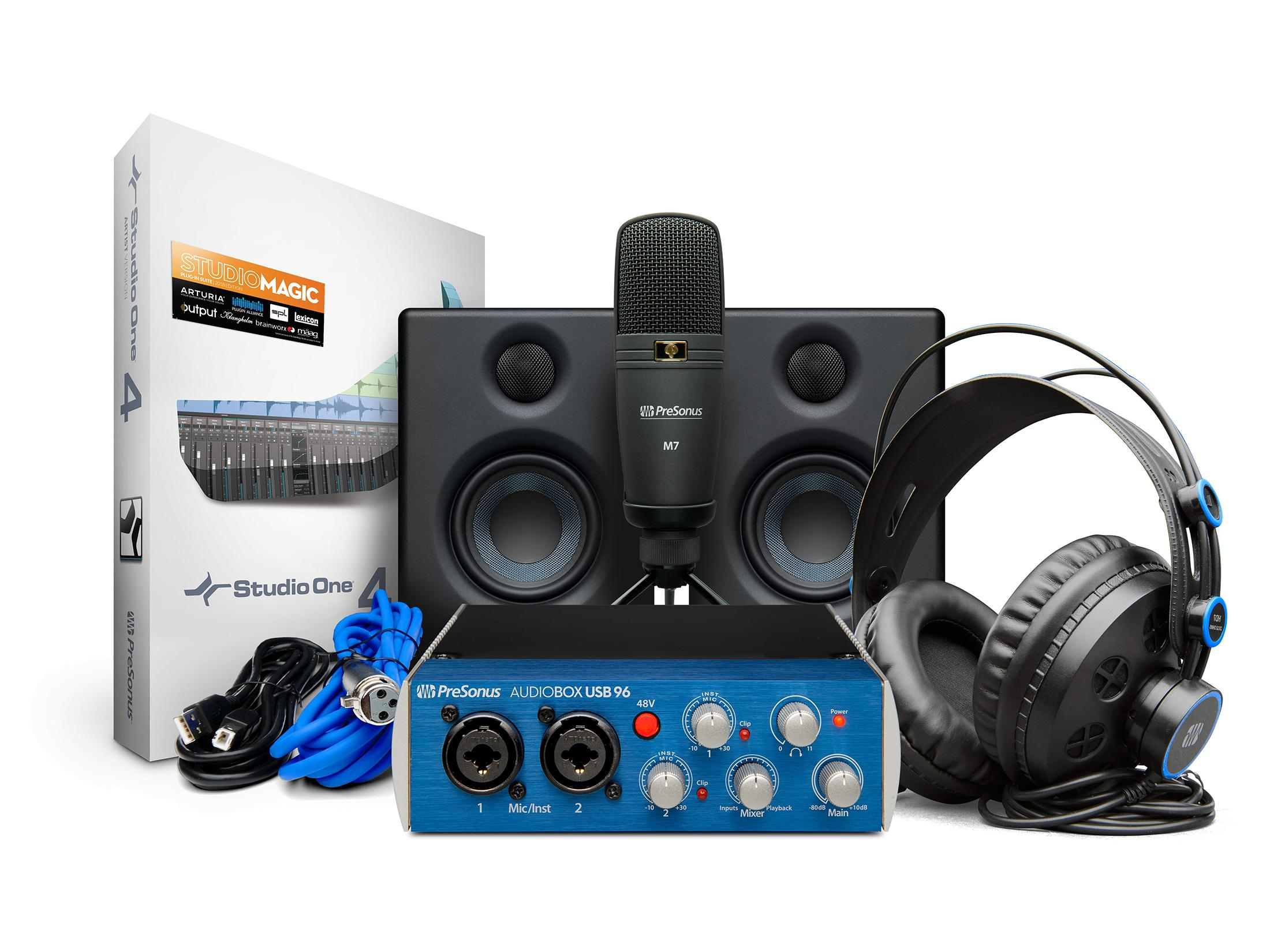 AudioBox Studio Ultimate Bundle Deluxe Hardware/Software Recording Collection by PreSonus