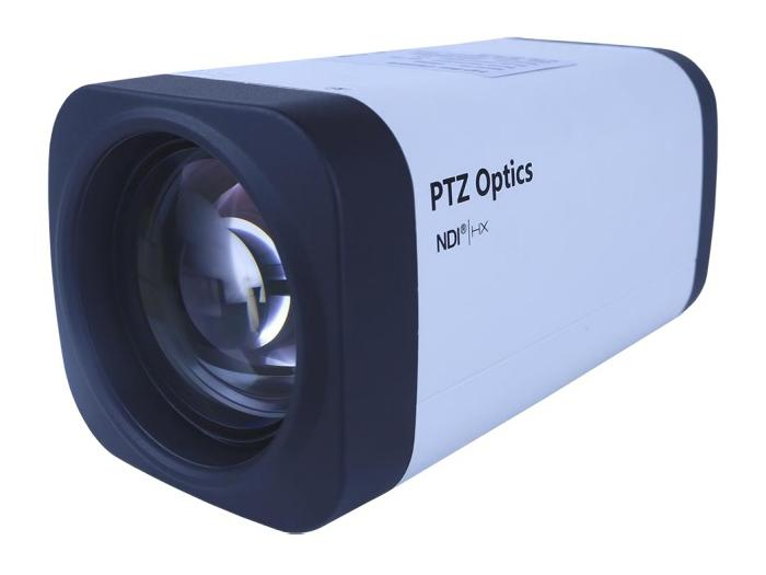 PT12X-NDI-ZCAM 12x 1080p NDI/HX HD-SDI Box Camera/3.5mm-42.3mm Lens/White by PTZOptics