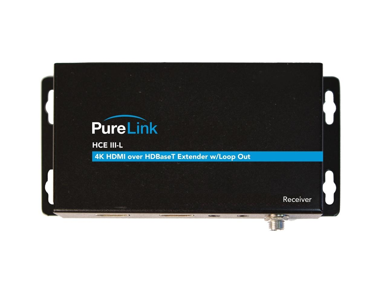 HCE III-L Rx HDTools 4K HDMI/HDR/IR and RS-232/Bi-directional PoE over HDBaseT Extender (Receiver) by PureLink