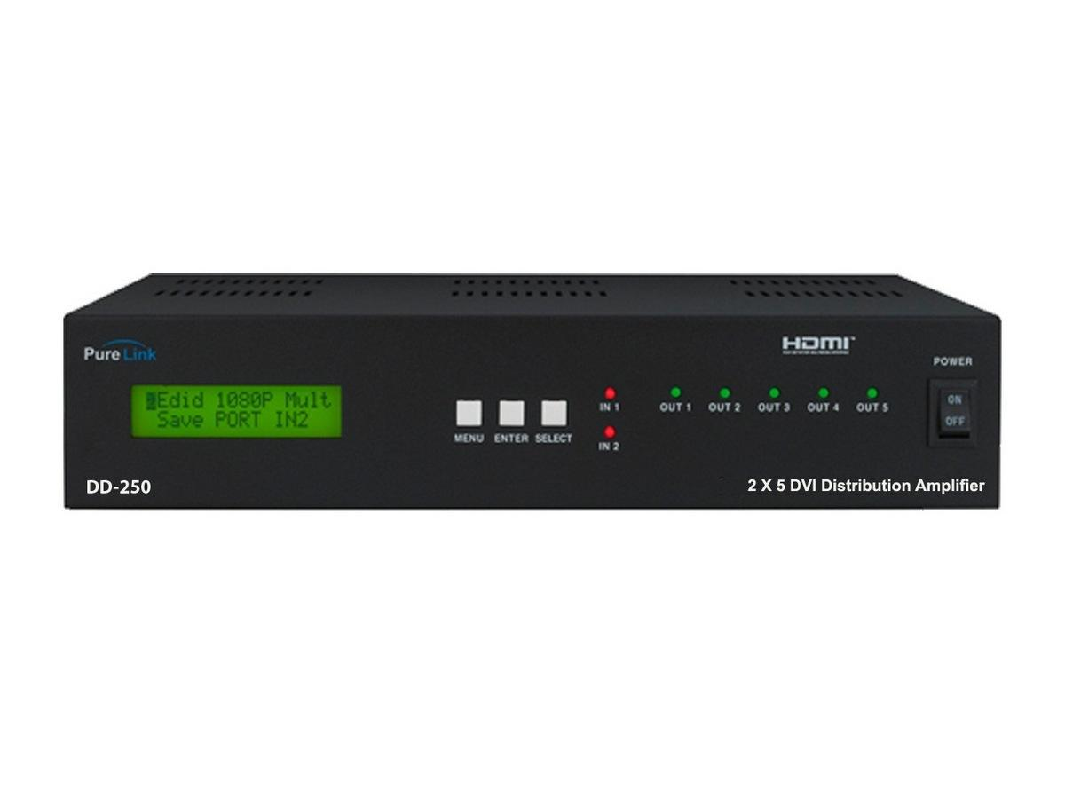 DD-250 HDTools 2x5 DVI I/O Distribution Amplifer by PureLink