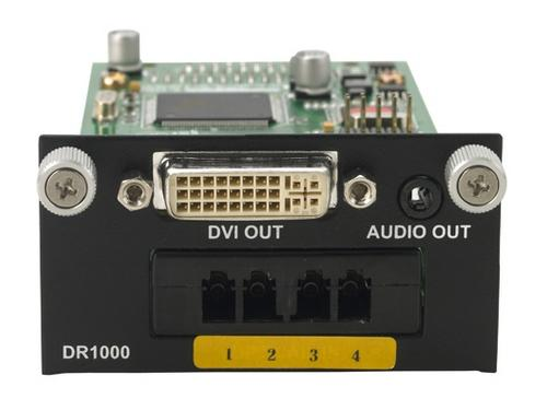 DR1000 4 LC Fiber to DVI/Analog Audio Extender (Receiver) by PureLink