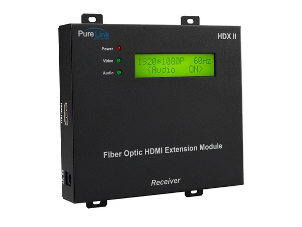 HDX II rx HDMI 4LC Fiber Optic Extender (Receiver) by PureLink