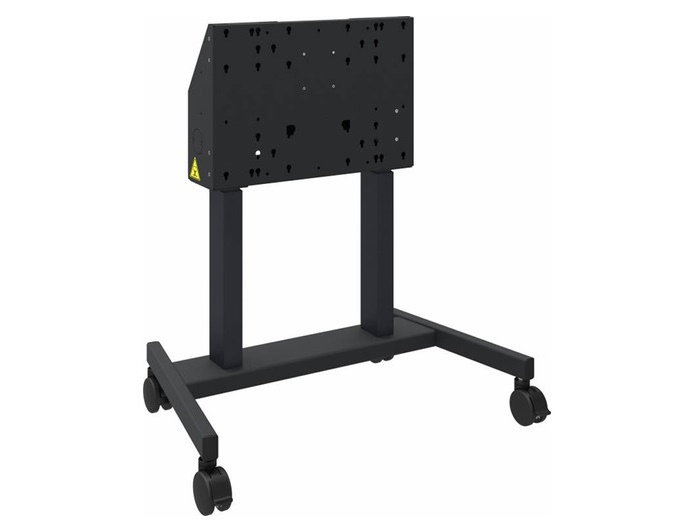487A01 e-Box Motorized Height-Adjustable Mobile Stand for Interactive Flat Panels by QOMO