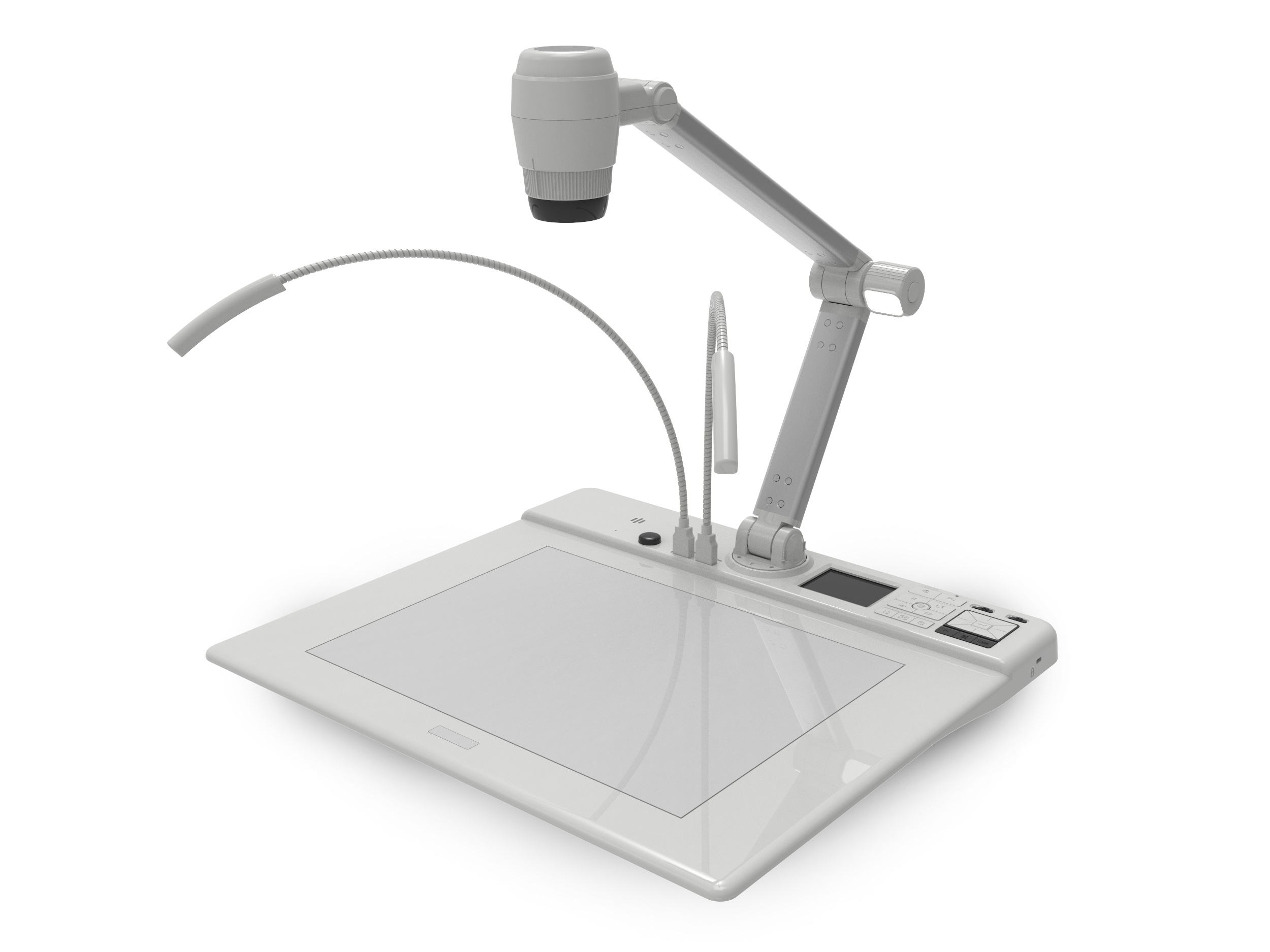 QD4000 13MP Flatbed Document Camera/Backlit Platform/13x Optical 8x Digital Zoom/RS232 by QOMO