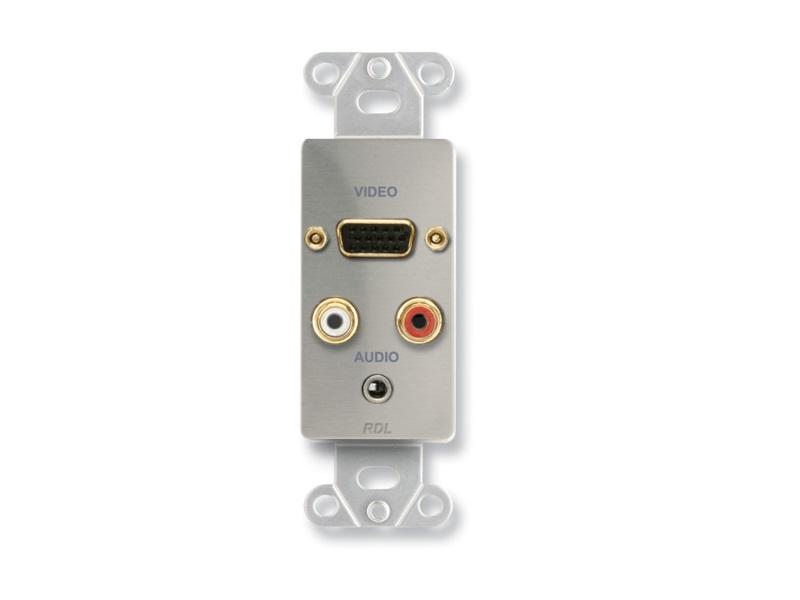 DS-AVM4 Audio/Video Decora Extender/Stainless/DB15/Phono/Mini by RDL