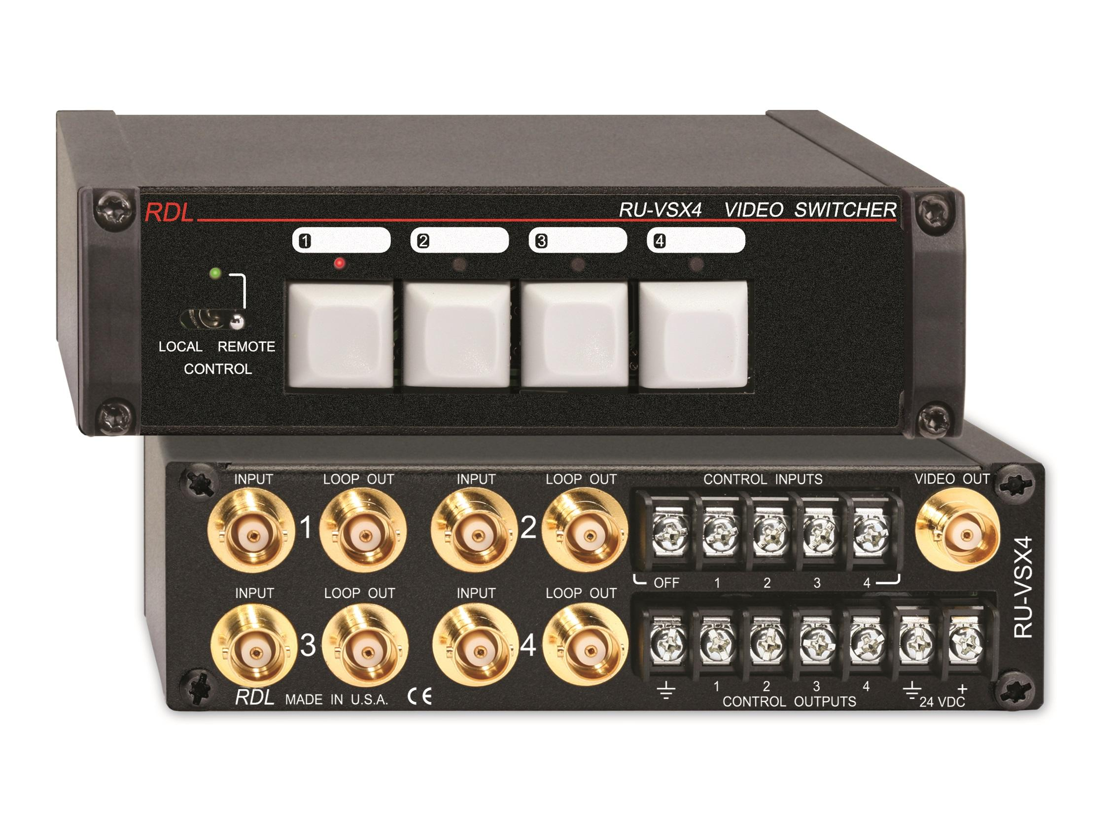 RU-VSX4 4x1 BNC Video Switcher by RDL