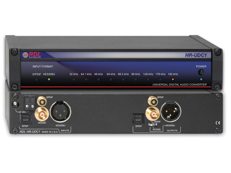 HR-UDC1 AES/EBU and S/PDIF Universal Digital Audio Converter by RDL
