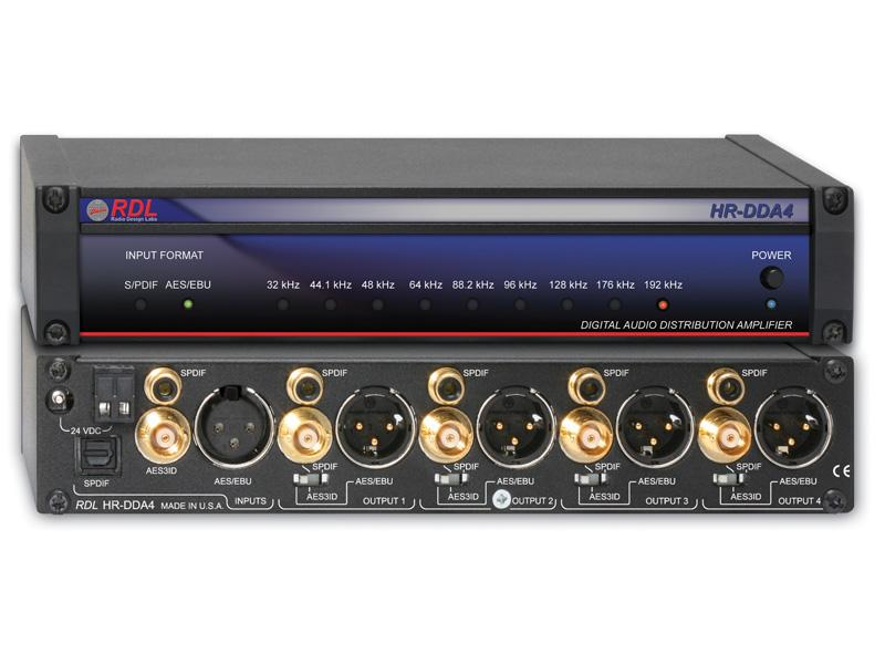 HR-DDA4 AES/EBU and S/PDIF Digital Audio Distributor by RDL