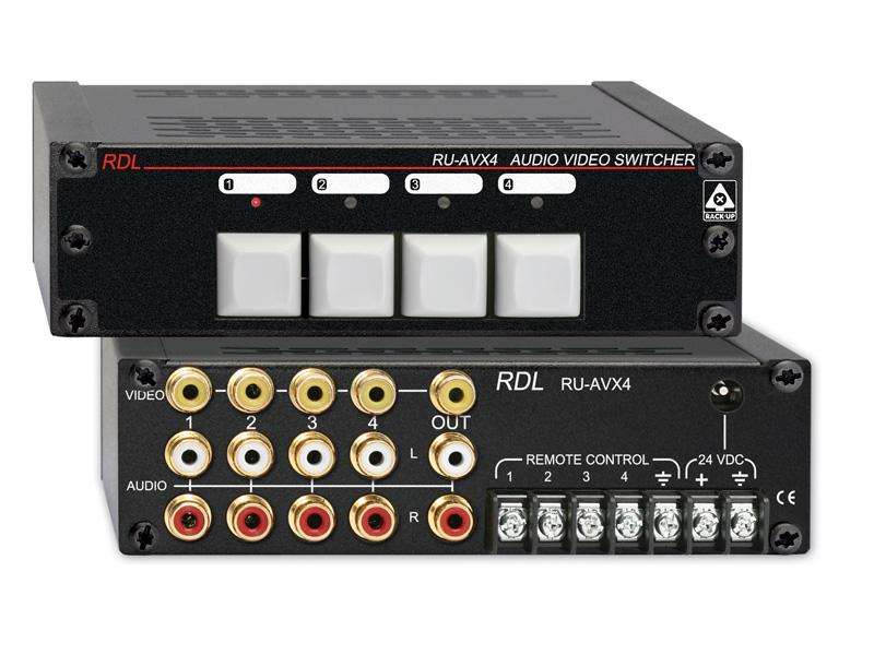 RU-AVX4 4x1 Phono Audio/Video Switcher by RDL