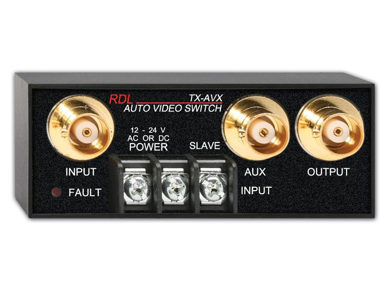 TX-AVX 2x1 BNC Automatic Video Switch by RDL