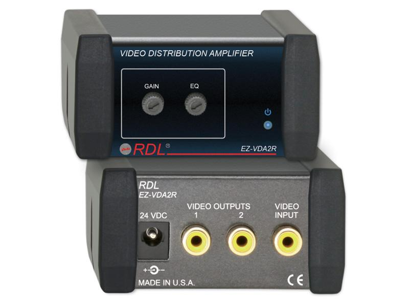 EZ-VDA2R 1X2 RCA NTSC/PAL Video Distribution Amplifier by RDL