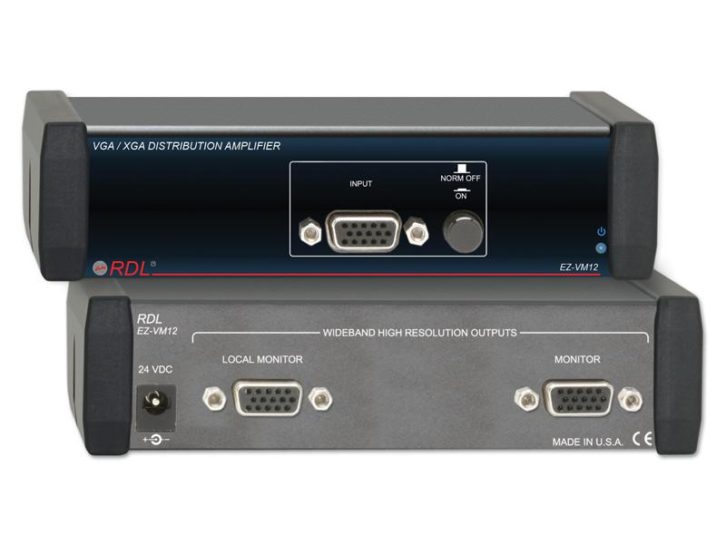 EZ-VM12 1x2 VGA/XGA Distribution Amplifier by RDL